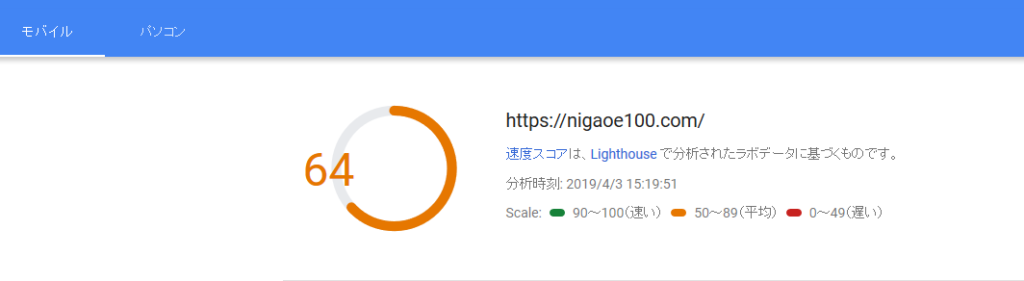 PageSpeedスコア64